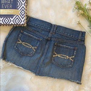 Abercrombie denim mini skirt size 4